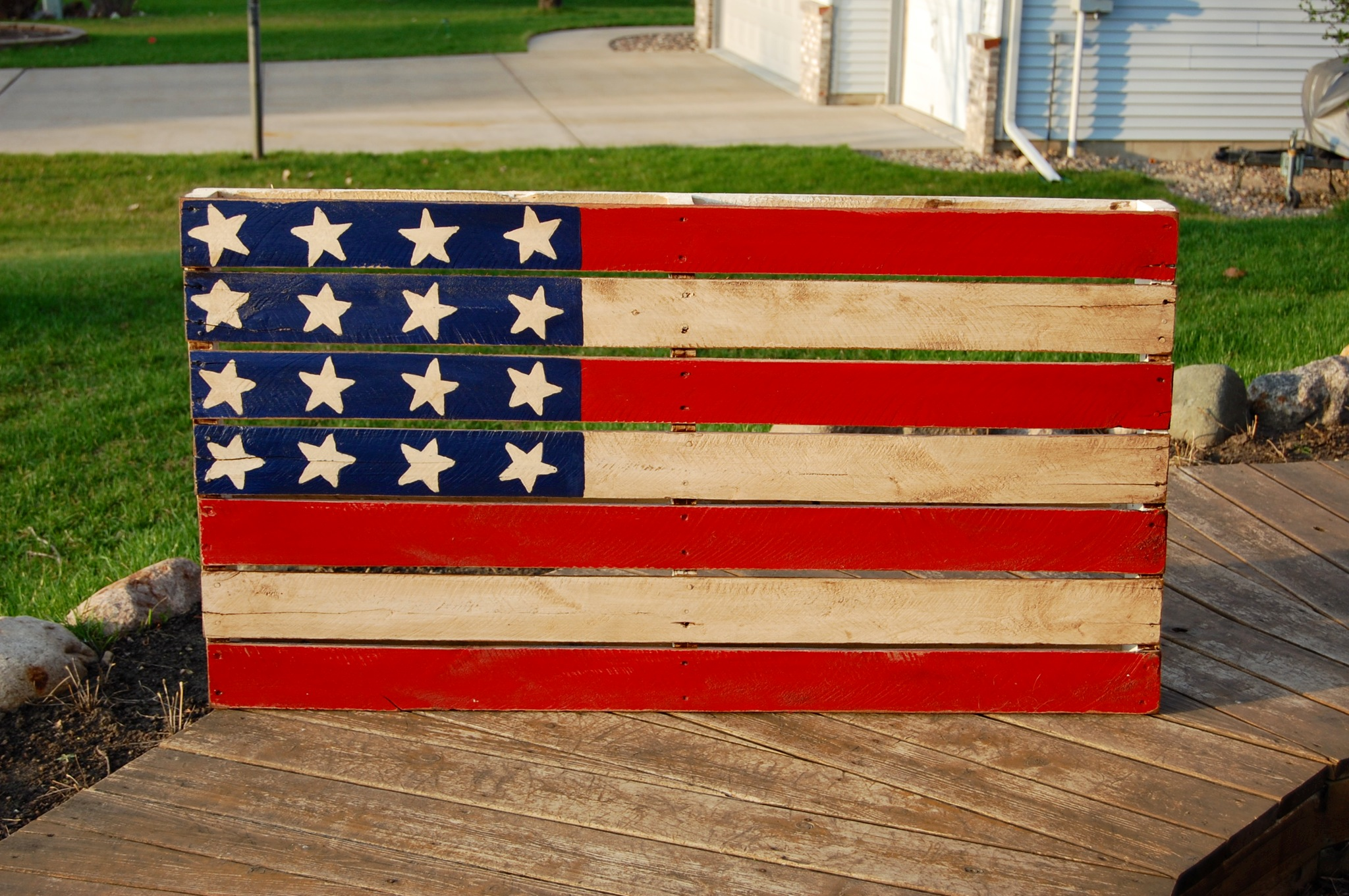 American flag pallet art occasionally yours - American flag pallet art ...